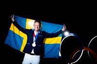 Peder Fredricson med sitt silver. Det kan bli en medalj till. Sverige går in i lagtävlingen som en av de tunga favoriterna.