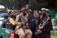 Talibaner i närheten av Kabuls flygplats.