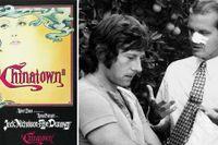 "Jack Nicholson (t h) i samspråk med Roman Polanski under inspelningen av ""Chinatown""."