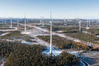 Bilden är från Markbygden 1101 – Europas största vindkraftspark som ligger utanför Piteå.