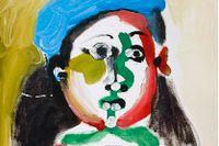 """""""Fillette au beret"""" säljs tillsammans med flera andra verk av Pablo Picasso på Uppsala auktionskammare 7 december."""