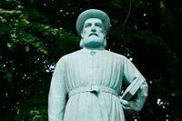 Gustav Vigelands staty av Snorri Sturluson, skänkt av Norge 1947.