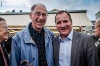 Sven Erlander tillsammans med S-ledaren Stefan Löfven.