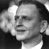 Olof Palme som tillträdande statsminister, 1969.