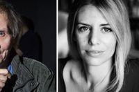 Den kontroversielle franske författaren Michel Houellebecq och artikelförfattaren Kajsa Ekis Ekman.