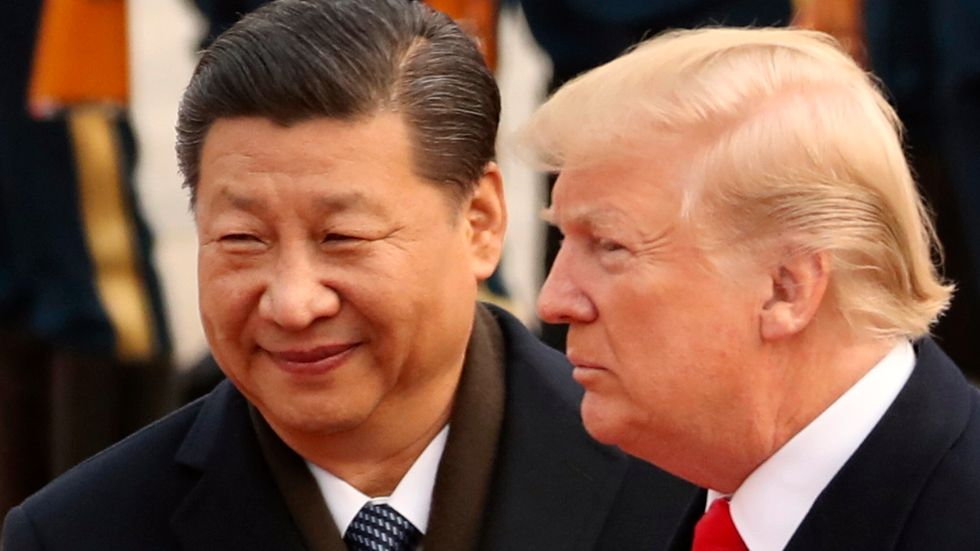 Kinas president Xi Jinping och USA:s president Donald Trump. Arkivbild.