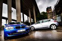 BMW 116d och Renault Megane 1,5 dCi.