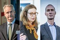 Alectas vd Magnus Billing, Swedbanks Birgitte Bonnesen och AMF:s Johan Sidenmark.