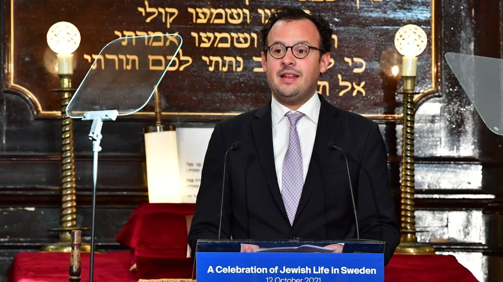 Aron Verständig, ordförande för Judiska centralrådet i Sverige, höll tal i Malmös synagoga inför Malmöforum. Arkivbild.