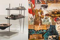 """Otobong Nkangas """"Solid maneuvers"""" ingår i utställningen """"Varje löv är ett öga"""", liksom Anders Sunnas målning """"Indigenous love""""."""