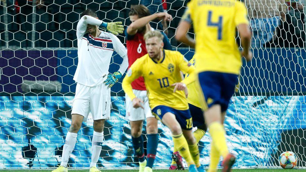 Emil Forsberg blev poängräddare mot Norge på Friends arena.