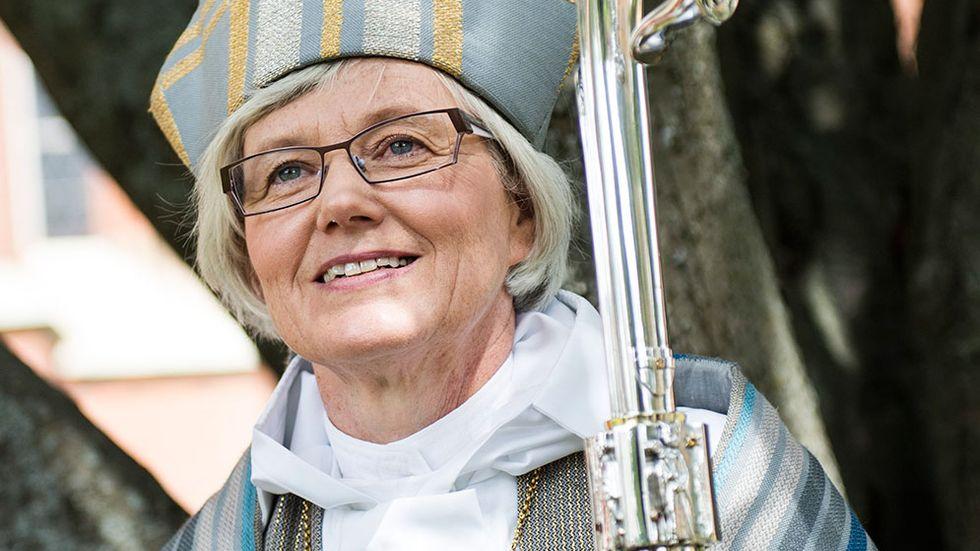 Antje Jackelén när hon vigdes till biskop den 15 juni.