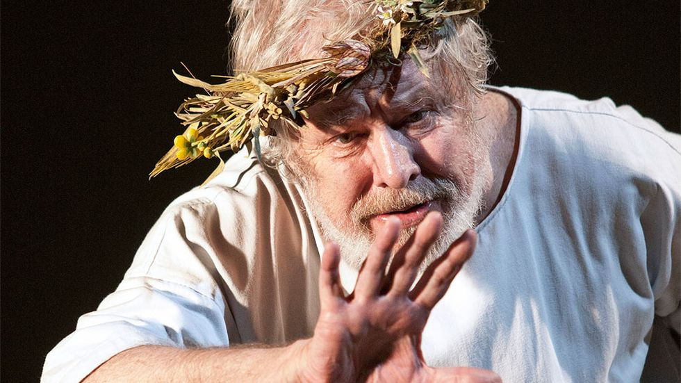 Sven Wollter som Kung Lear.