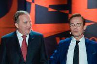 Stefan Löfven (S) och Ulf Kristersson (M).
