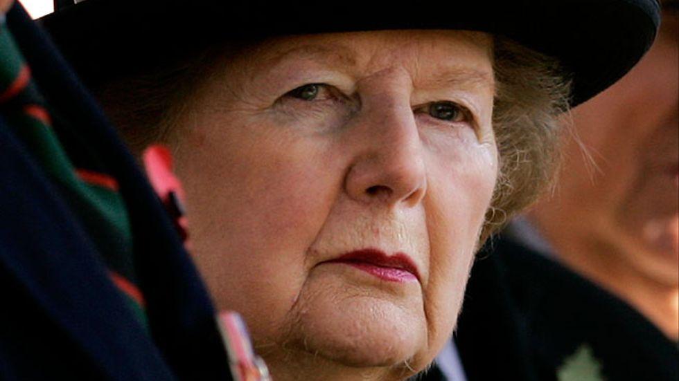 Margaret Thatcher på en bild från den 9 november 2007.