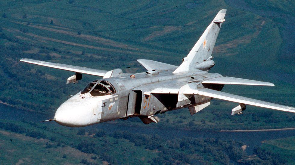 Arkivbild, ett ryskt plan av typen Su-24