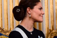 Kronprinsessan Victoria vid Svenska Akademiens årliga högtidssammankomst i Börshuset i Stockholm i december.
