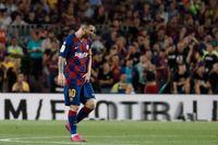 Lionel Messi tog sig mot ljumsken i matchen mot Villarreal. Barcelonastjärnan har sträckt sig. Arkivbild.