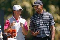 Rory McIlroy och Tiger Woods.