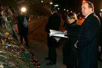 Stefan Löfven besökte på tisdagkvällen Majdan-torget i Kiev.