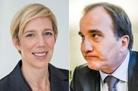 Anna Breman, chefsekonom på Swedbank, och Stefan Löfven, statsminister.