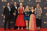 """Jeffrey Nordling, Alexander Skarsgård, Nicole Kidman, Reese Witherspoon, Zoe Kravitz och Laura Dern spelar alla i """"big little lies"""", som nu får en andra säsong. Arkivbild."""