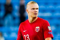 Erling Braut Haaland missar Norges två kommande VM-kvalmatcher. Arkivbild.