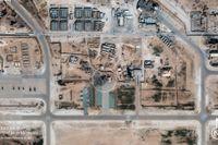 En satellitbild över al-Asad-basen som var en av måltavlorna för den iranska attacken.