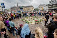 Manifestation i Åbo efter dådet i augusti. Arkivbild.