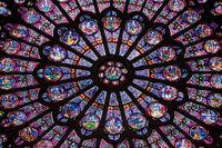Norra rosettfönstret i Notre-Dame.