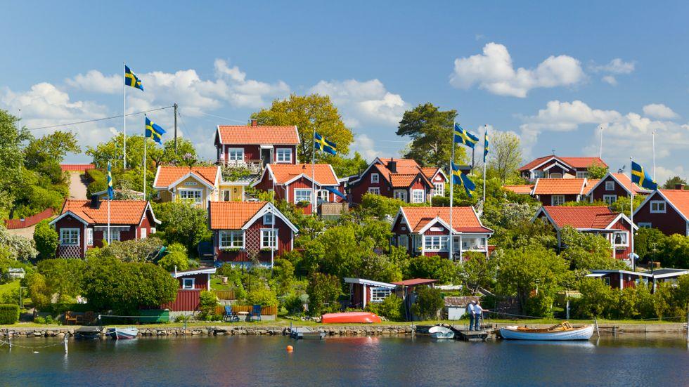 Svensk idyll i Karlskrona skärgård.