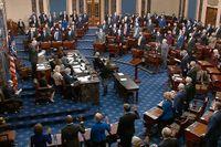 Senaten höll omröstning om riksrätten mot Donald Trump.