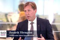 """""""Det behövs en bred översyn av skatterna som påverkar fastighetssektorn"""", säger Fredrik Törnqvist, gäst i Ekonomistudion."""