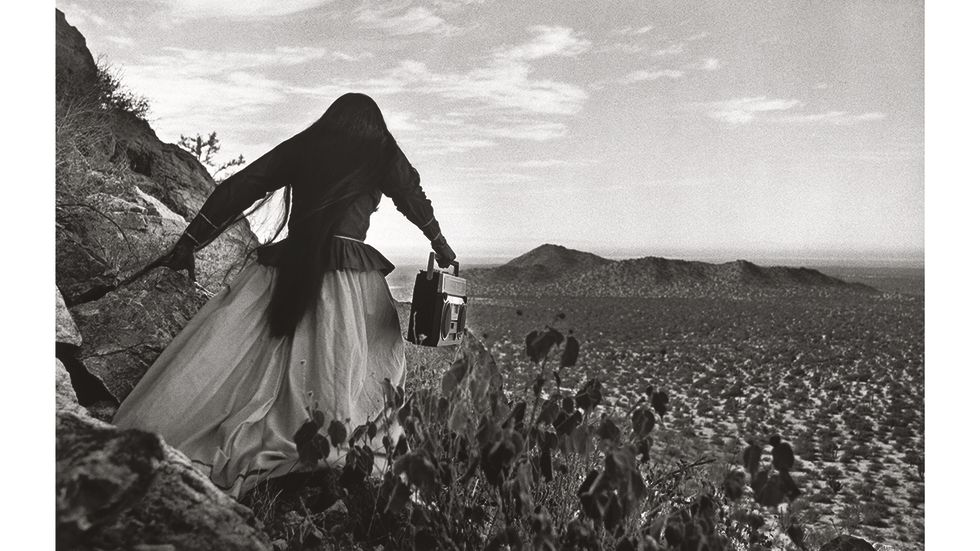 "Graciela Iturbide, ""Angel woman, Sonoran Desert, Mexico"", 1979 ."