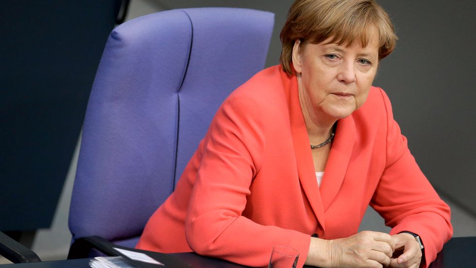 Angela Merkel har problem