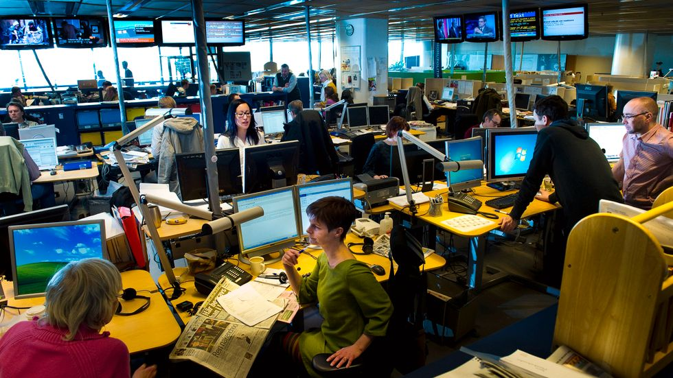 Nio av tio anställda trivs på jobbet enligt en undersökning från företagshälsan Avonova. Arkivbild.