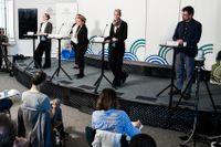 Emma Spak, SKL, Karin Flyckt och Johanna Sandwall, Socialstyrelsen, Karin Tegmark Wisell, Folhälsomyndigheten och Svante Werger, MSB.