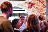 Stor feststämning i Norge när landet öppnade upp på lördagen.