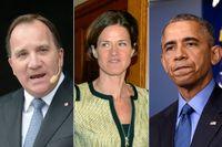 Stefan Löfven, Anna Kinberg Batra och Barack Obama.