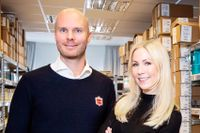 Mikael Kjellman och Annica Forsgren Kjellman, grundare av Skincity.