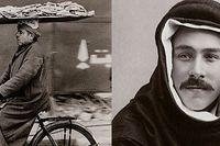 Cykelbud i Kairo och Algot Sätterström (t.h.).
