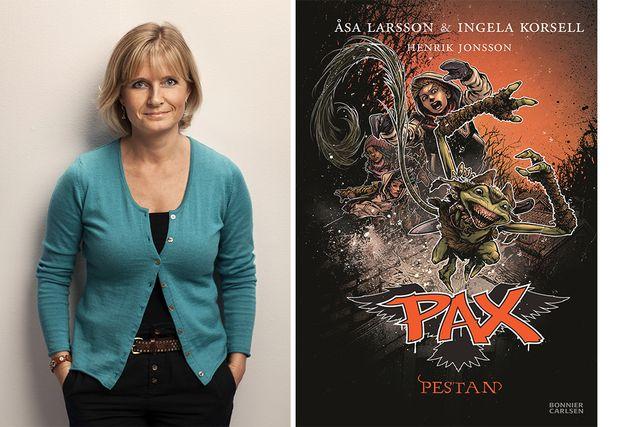 """Ingela Korsell började skriva de idag oerhört populära PAX-böckerna tillsammans med författaren Åsa Larsson för att fylla """"bokglappet"""" för mellanstadieåldern."""