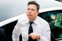Teslachefen Elon Musk pressas kring löften om självkörande bilar.