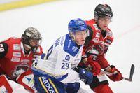 Malmö i sin senaste SHL-match, mot Leksand den 9 januari.