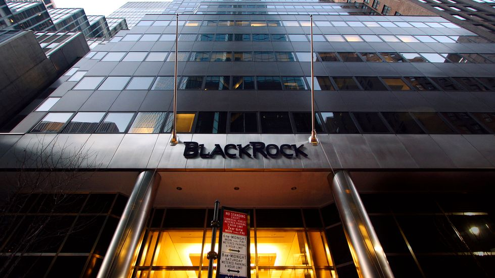 Blackrock klår förväntningarna. Arkivbild