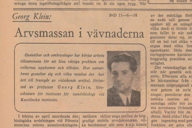 Denna artikel var införd i SvD den 11 juni 1958.