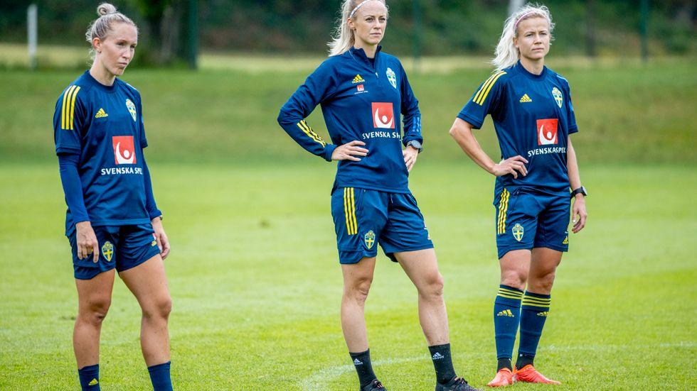 Julia Roddar, Amanda Ilestedt och Hanna Glas.