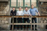 Olle Landin, Henrik Willstedt, Kalle Landin och Robert Willstedt i FEO Media.