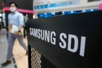 Samsung SDI uppges storstatsa på elbilsbatterier i USA. Arkivbild
