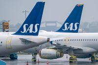SAS flygplan långtidsparkerade på Kastrups flygplats